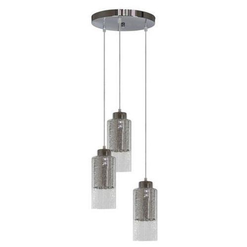 Lampa wisząca zwis żyrandol libano okrągły 3x60w e27 srebrna 33-51691 marki Candellux