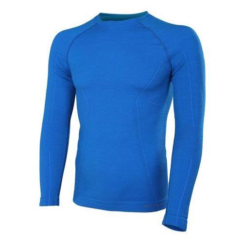 Koszulka męska Active Wool długi rękaw LS12820 Brubeck - Niebieski - Niebieski