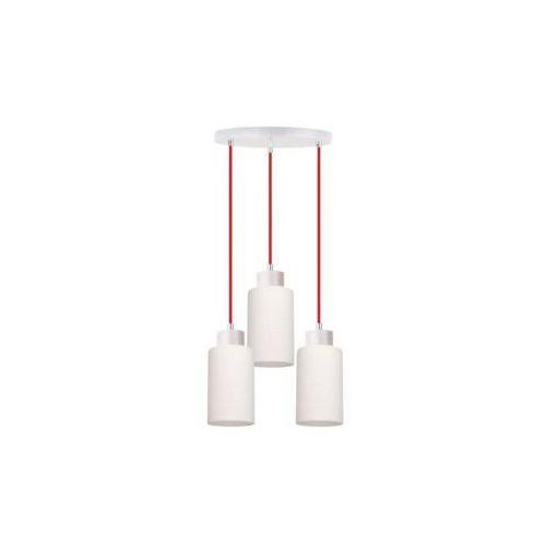 Spot-light  bosco lampa wisząca dąb bielony/czerwony 3xe27-60w 1716532