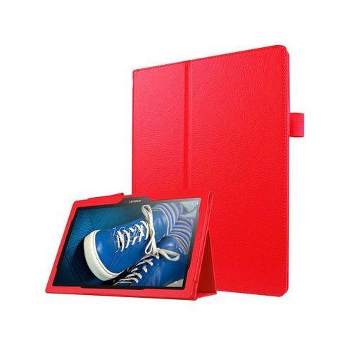 Etui stand cover lenovo tab2 a10-30/tab 10 tb-x103 f/l czerwone - czerwony marki 4kom.pl