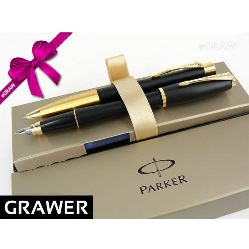 Parker Zestaw  urban czarny pióro długopis grawer