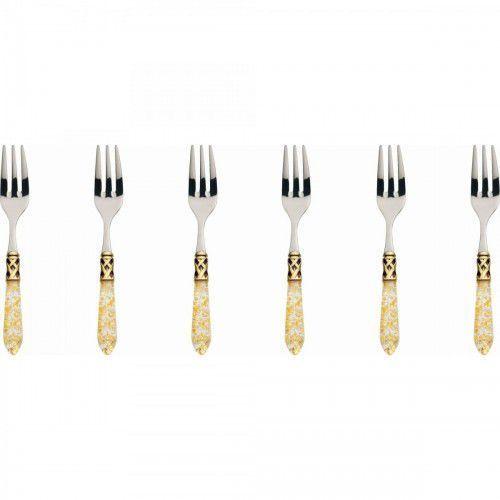 aladdin gold - komplet 6 widelczy kolor perłowa kość słoniowa marki Bugatti