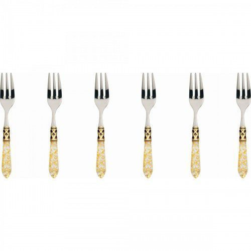 Bugatti ALADDIN GOLD - Komplet 6 widelczy kolor perłowa kość słoniowa, ALD1G-N4217 (11869393)