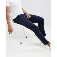 River Island Skinny Smart Trousers With Taping In Navy - Navy