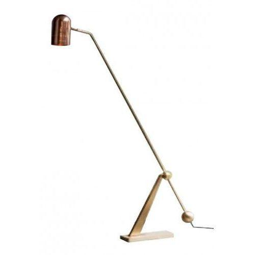 Lampa podłogowa CRANE złoto-miedziana - stal węglowa (5900000051062)