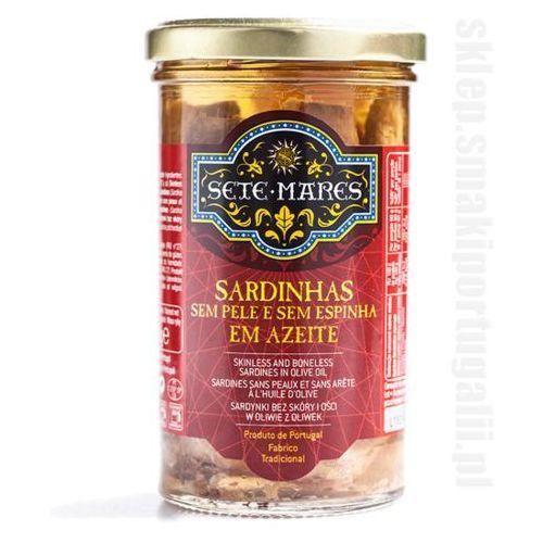 Sardynki bez skóry i ości w oliwie z oliwek 250g Sete Mares z kategorii Konserwy i przetwory rybne