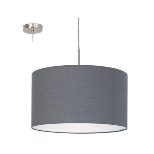 Lampa wisząca Eglo Pasteri 31573 z abażurem 1x60W E27 fi38 szara