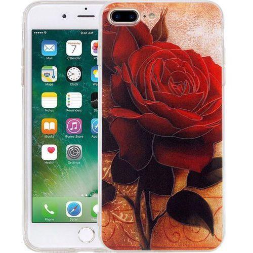 Perlecom Pokrowiec na tył iphone  4260481643318, pasuje do modelu telefonu: apple iphone 7 plus, różany (4260481643318)