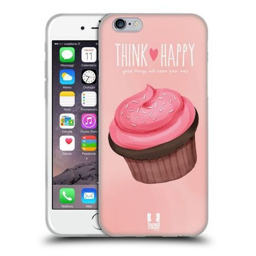 Head case Etui silikonowe na telefon - cupcake happiness pink