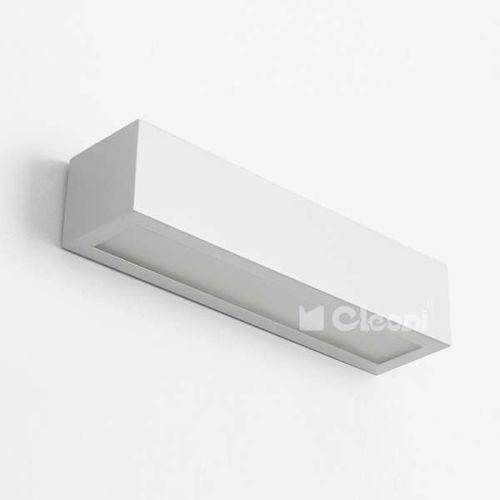Kinkiet LAMPA ścienna Nekla 50 IC102f 1152K2.117 Cleoni metalowa OPRAWA minimalistyczna straight prostokątna biała (1000000226225)