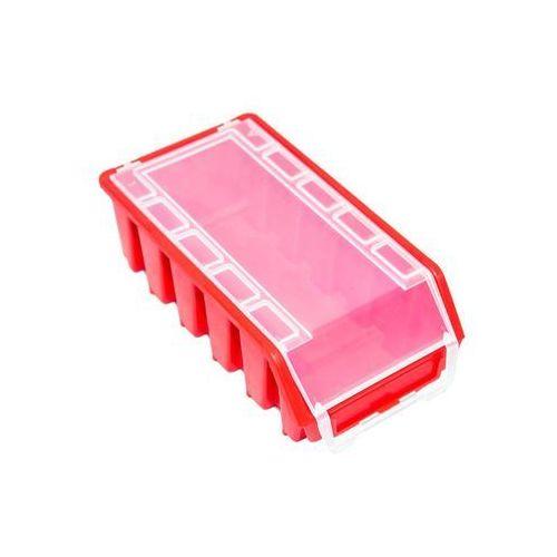 Patrol Mały pojemnik magazynowy warsztatowy ergobox 2 czerwony plus long (5901238242840)