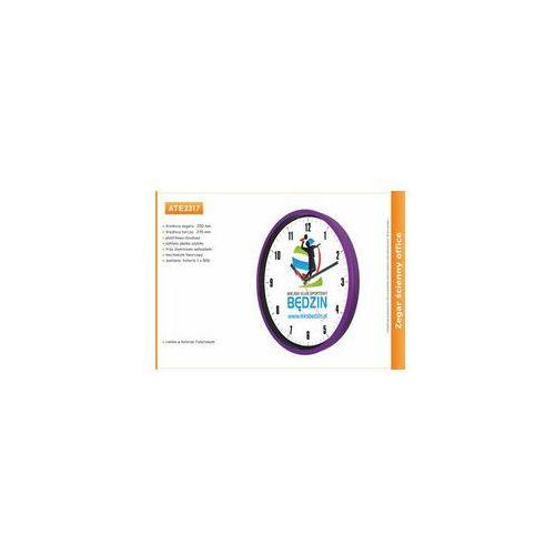 Zegar reklamowy 10' fiolet / 250mm, kolor fioletowy