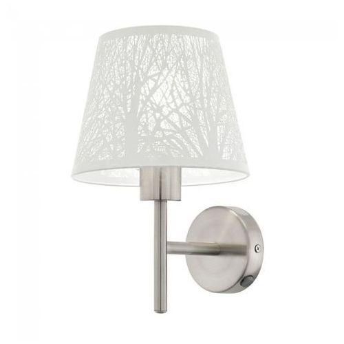 Kinkiet Eglo Hambleton 49767 lampa ścienna 1x60W E27 nikiel mat / biały, 49767