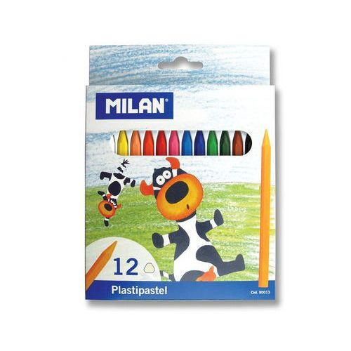 Milan Kredki świecowe 12 kolorów