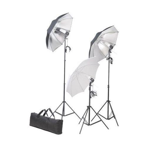 Vidaxl  zestaw studio: oświetlenie, statywy i parasole