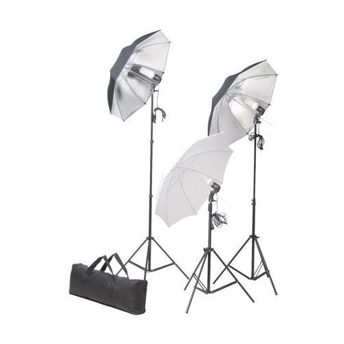 zestaw studio: oświetlenie, statywy i parasole marki Vidaxl