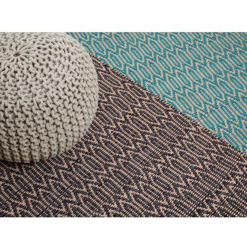 Beliani Dywan turkusowo-beżowy - 120x170 cm - bawełna - juta - silopi
