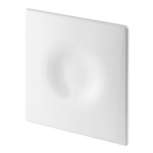 Cichy wentylator łazienkowy Silent + Wymienne Panele Czołowe Różne Funkcje: Higro,Timer Model: Włącznik pociągany, Średnica: 100 mm, Panel frontowy: Orion Biały