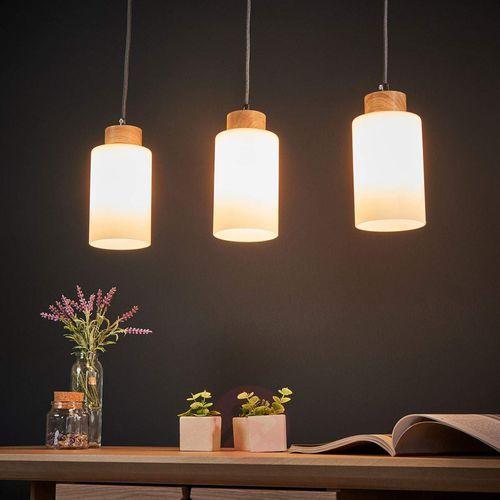 Lampa wisząca zwis oprawa Spot Light Bosco 3x60W E27 dąb olejowany/antracyt 1711374 (5901602341155)