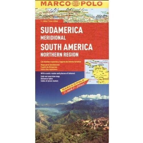 Ameryka Południowa - północ 1:4 mln - mapa Marco Polo, praca zbiorowa - OKAZJE