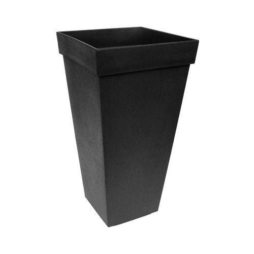 Donica ogrodowa 26 x 26 cm SYMPHONY czarna gumowa (5907736265374)