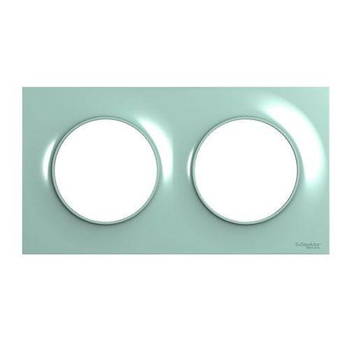 Ramka podwójna Schneider Electric Odace cyjan (3606481212306)