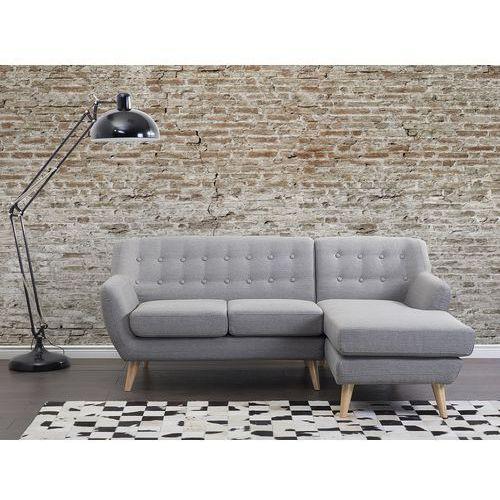 Beliani Sofa jasnoszara - kanapa - tapicerowana - narożnik - motala