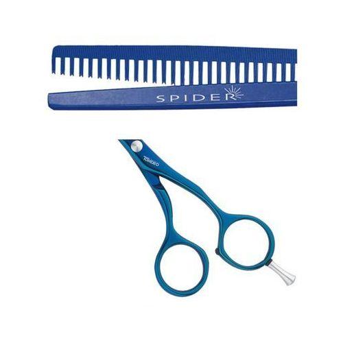 spider shine classic blue a-line nożyczki, degażówki jednostronne 5.25 (7037) antyalergiczne od producenta Tondeo