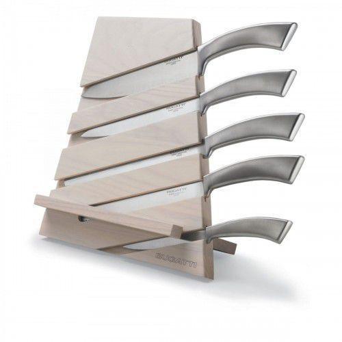 Bugatti Trattoria blok noży jasne drewno + 5 noży ergo jasny blok