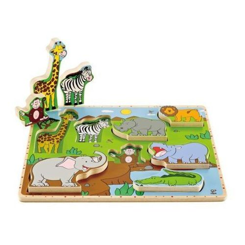 Hape dzikie zwierząta puzzle stand up