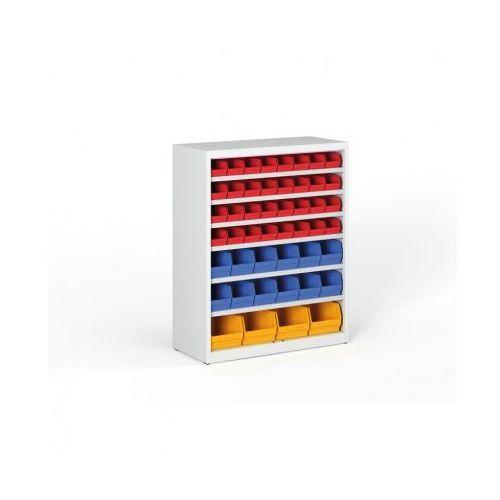 B2b partner Regał z plastikowymi pojemnikami - 1150x920x400 mm, 32xa, 12xb, 4xc