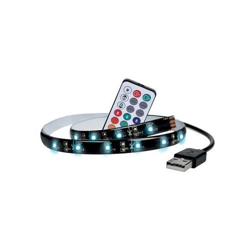 SADA 2x LED RGB Taśma do telewizora z pilotem dalnego sterowania LED/USB 2x50cm