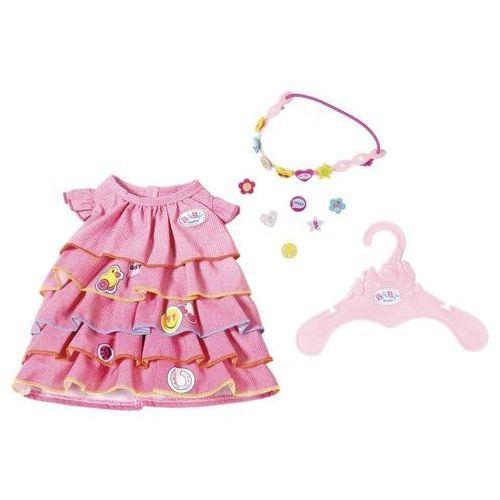 Baby born - letnia sukienka z przypinkami marki Zapf