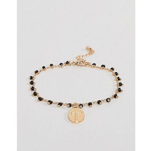 design bracelet with vintage style charm in gold - gold marki Asos