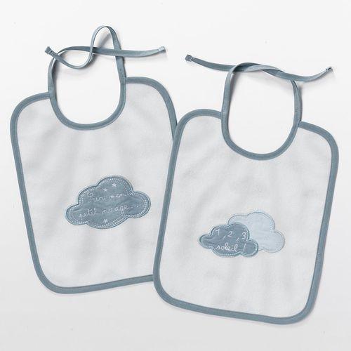 R mini Śliniak dziecięcy (2-pak) dans les nuages