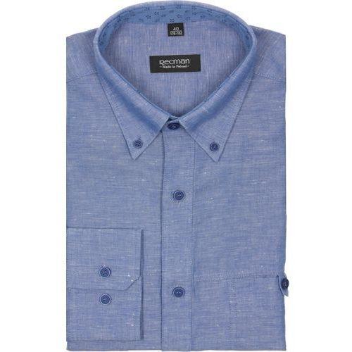 Koszula martos 1850 długi rękaw custom fit niebieski marki Recman