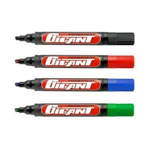 Markery do tablic i flipchartów Marker suchościeralny kamet ścięty czerwony x12