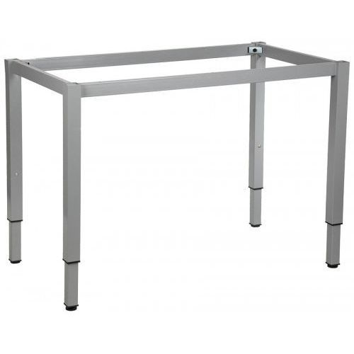 Stelaż ramowy regulowany na wysokość, 136x66 cm - noga o przekroju kwadratowym. do stołu lub biurka. marki Stema - ny
