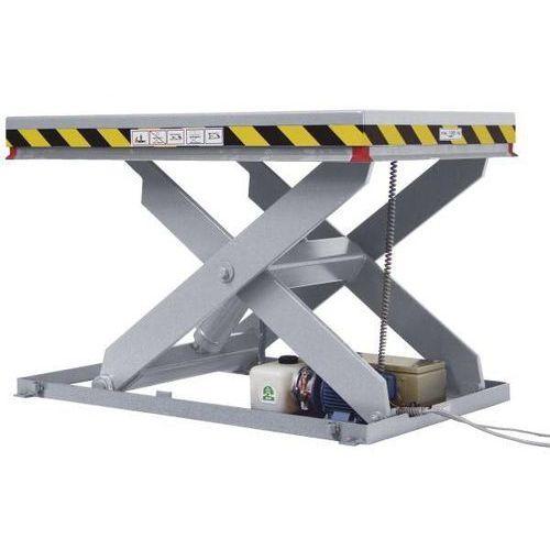 Nożycowy stół podnośny, nośność 2000 kg, platforma: dł. x szer. 1500x800 mm. róż marki Gruse maschinenbau