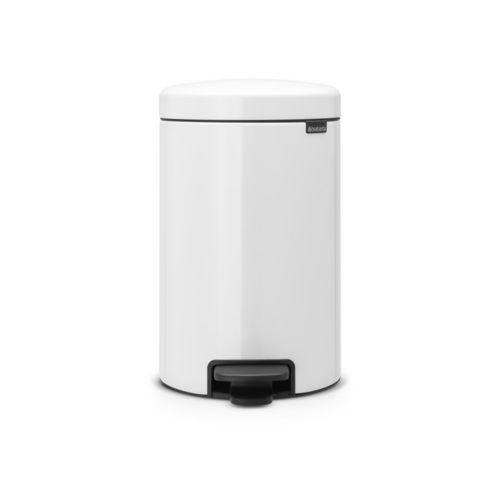 Brabantia - Kosz NewIcon - 12 l - plastikowe wiadro i wolnoopadająca pokrywa - biały - biały