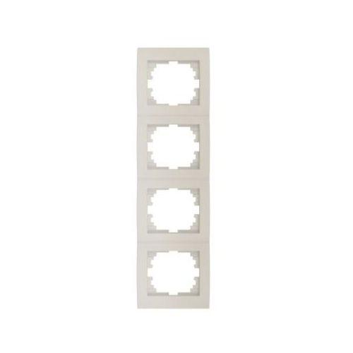 Kanlux logi 02-1540-003 kremowy ramka poczwórna pionowa 25183 (5905339251831)