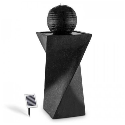 Blumfeldt fontanna fontanna kulowa panel słoneczny 200 l/h led bazalt