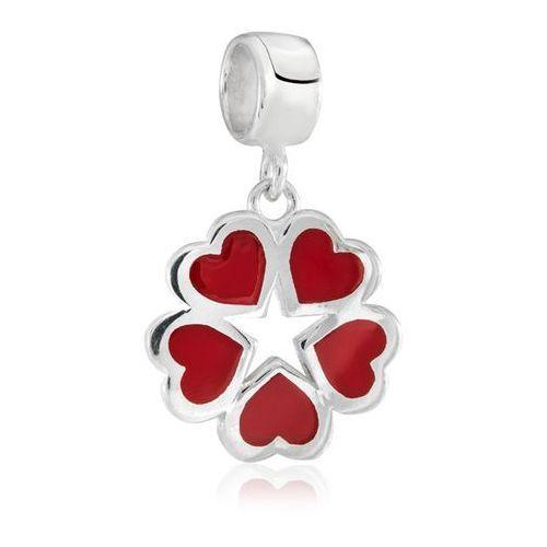 Charms koralik srebrny miłosna koniczyna marki Murrano