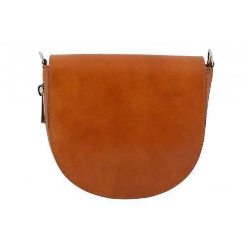 Torby damskie listonoszki skórzane - - brązowy jasny marki Barberini's