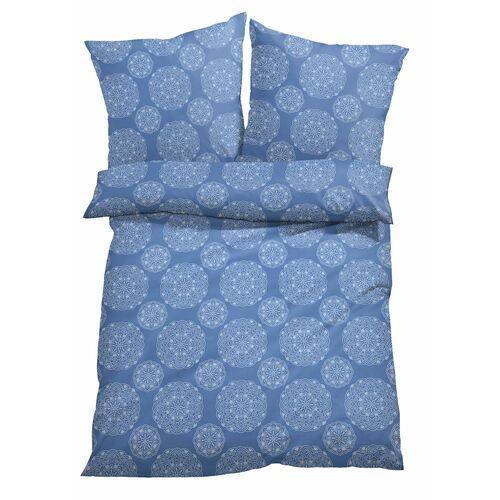 Pościel z nadrukiem z motywem ornamentów bonprix niebieski, kolor niebieski