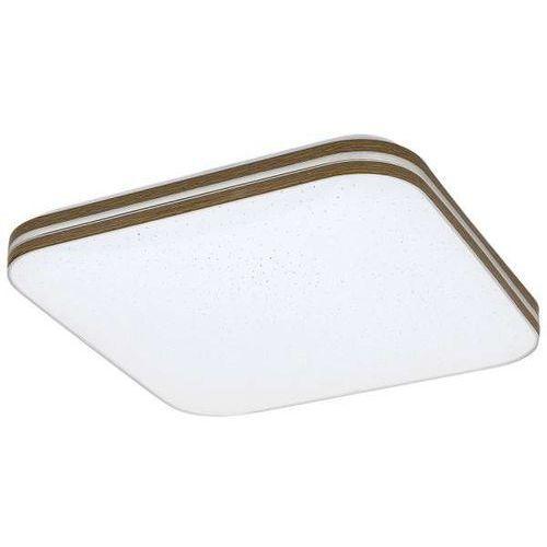 Plafon LAMPA sufitowa OSCAR 3346 Rabalux kwadratowa OPRAWA ścienna LED 18W z efektem gwiazd biała brązowa (5998250333465)