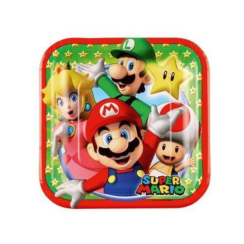 Talerzyki urodzinowe Super Mario Bros - 18 cm - 8 szt.