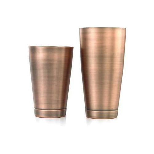 Shaker boston 2-częściowy typu tin&tin 700 ml+ 500 ml antyczna miedź marki Barup