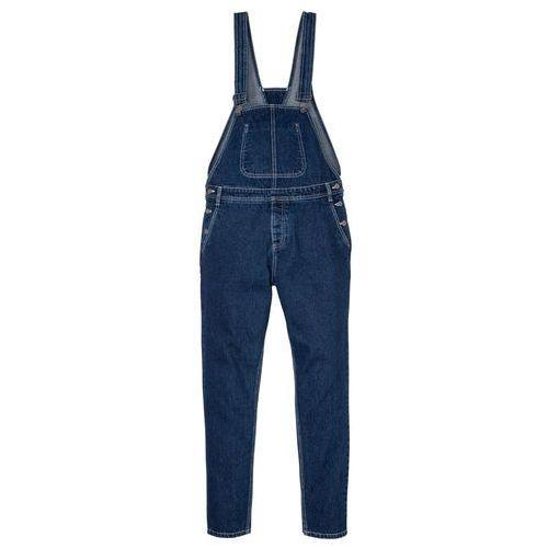 """Dżinsy ogrodniczki Loose Fit Tapered bonprix niebieski """"stone"""", jeansy"""