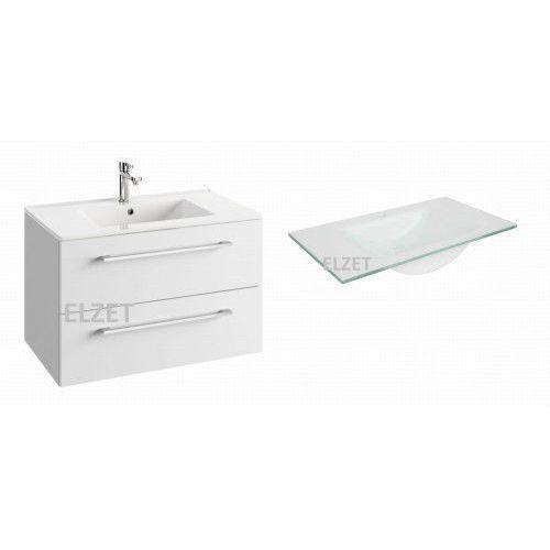 szafka trento d80 biały połysk + umywalka puro 80 124-d-08004+3074 marki Defra